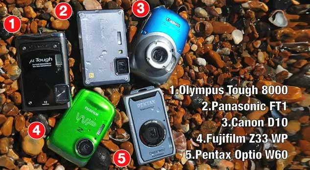 Canon-Powershot-D10-Vs-Panasonic-Lumix-FT1-Vs-Fujifilm-Z33-WP-Vs-Olympus-Mju-Tough-8000-Vs-Pentax-Optio-W60