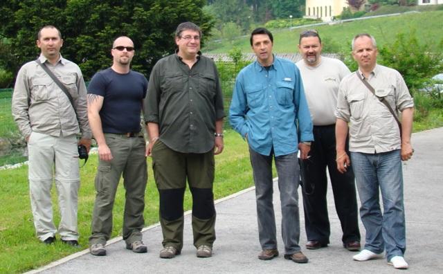 Djole, domacin Jure, Dusan, Roka, Zlajo i Vlado na ribogojilistu Bled