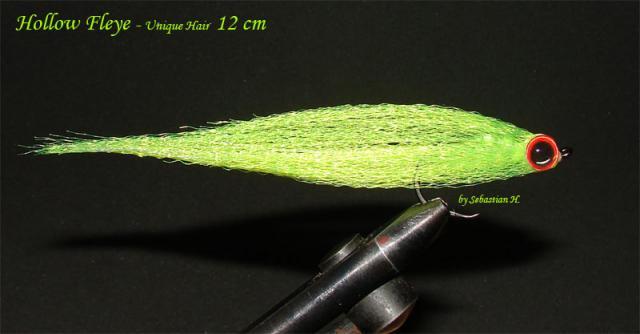 unique hair - hollow fleye - 12cm web