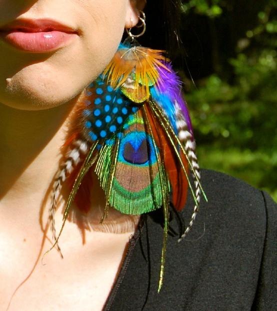 Gypsy-Peacock-Feather-Earrings