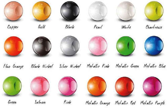 Tungsten-Fly-Tying-Round-Beads boje