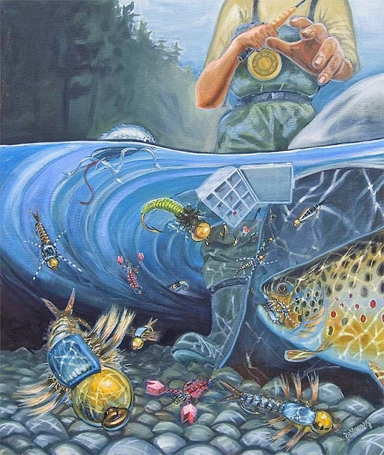 Pehovi s muhama na vodi