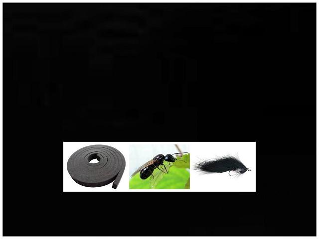 Crna boja kod mušičarenja