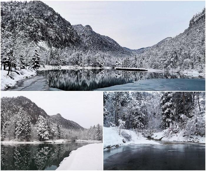 Malo akumulacijsko jezero Završnica zimi