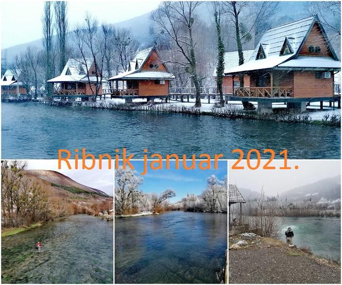 Reka Ribnik zimi januar 2021.