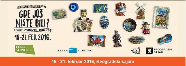 Sajam turizma u Beogradu od 18. do 21. februara 2016.