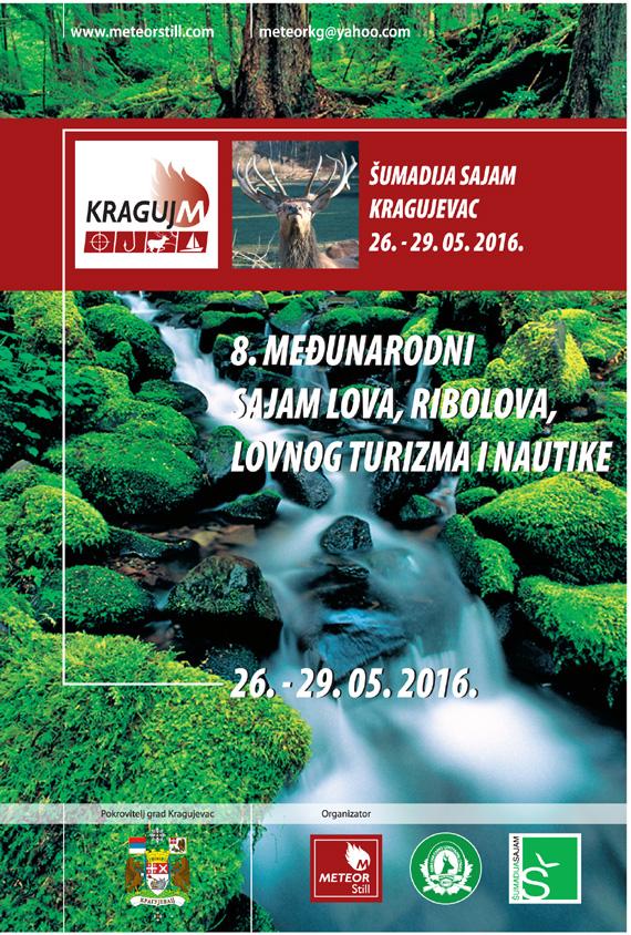 Međunarodni sajam lova, ribolova, lovnog turizma i nautike  KRAGUJ M 2016 – u toku