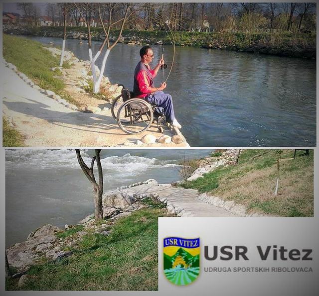 Platforma za invalide na mušičarskoj stazi u Vitezu