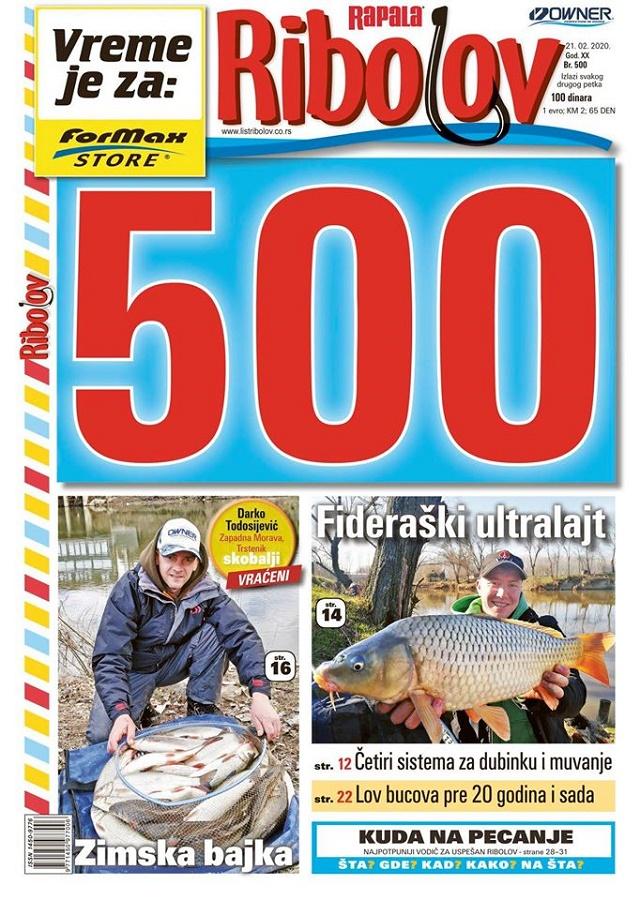 500. broj lista Ribolov