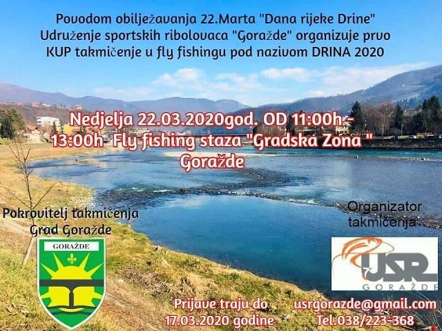 """Kup takmičenje u mušičarenju na Drini """"Drina 2020."""" – najava"""