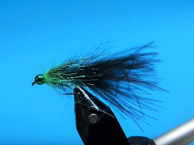 Crno/zeleni strimer za pastrmke