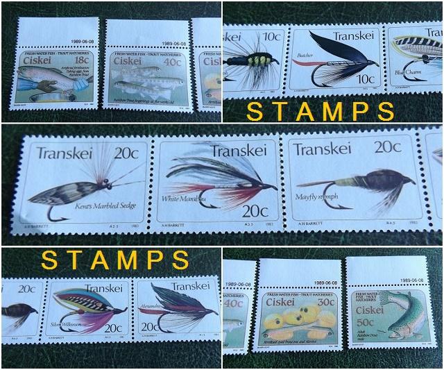 Ribe i mušice na poštanskim markama